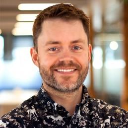 Photo of James Hackett, creative director at INVIVO Communications.