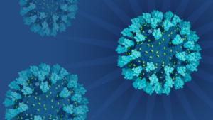 Coronavirus Explorer - blue viruses